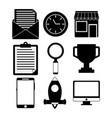 digital marketing design vector image vector image
