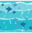 Fish in wave seamless pattern vector image vector image