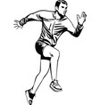 fitness sports runner man jogging vector image
