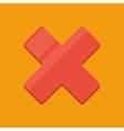 Flat cross icon vector image vector image