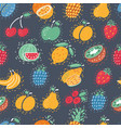 fruit and berries background vector image