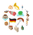 germany cartoon icons vector image vector image