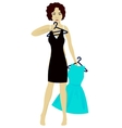 Girl choose dress vector image