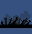 hands zombie vector image