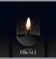 happy diwali dark background with sparkles vector image vector image