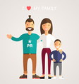 Happy Family Parents with Son Father mother son I vector image vector image