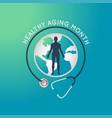 healthy aging month logo icon vector image vector image