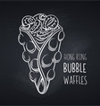 hong kong bubble waffle icon vector image