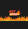 hot offer burning fire and flames frame vector image vector image