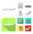 isolated object of goods and cargo logo vector image vector image
