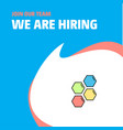 join our team busienss company shells we are vector image vector image