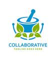logo herbal concoction vector image vector image