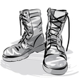 Military leather worn boots vector image vector image