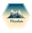 mountains low-poly style vector image