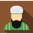 Muslim man flat icon vector image