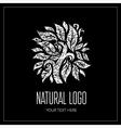 Natiral Logo 01 grunge vector image vector image