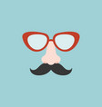 nose mustache glasses vector image