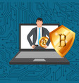 people business bitcoin vector image vector image