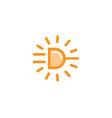power sun plug icon logo vector image