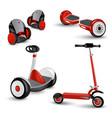 realistic self-balancing gyro two-wheeled board vector image vector image
