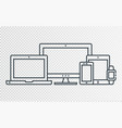 responsive design icons for web vector image vector image