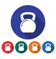 round icon weight flat style with long shadow vector image vector image