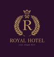 royal key hotel logo vector image