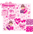Scrapbook elements with hearts and fairies vector image vector image