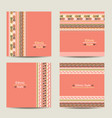 set cards with ethnic design vector image vector image