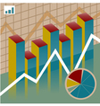 Set chart economy vector image vector image