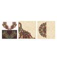 set vintage ornamental tribal ethnic template vector image vector image