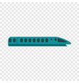 speed train icon flat style vector image vector image