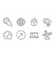 star swipe up and idea gear icons set augmented vector image vector image