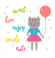 sweet card for little princess funny postcard for vector image