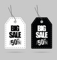 tag big sale set design on grey vector image vector image