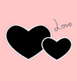 template of two heart photo frames love for vector image
