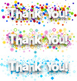 Thank you colour banners vector image vector image