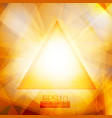 yellow abstract triangles vector image