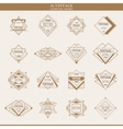 Set of line abstract geometric logotypes or vector image