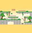 2d tileset platform game 25 vector image vector image
