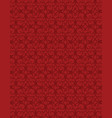 abstract red background with repeated pattern vector image vector image
