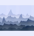 abstract watercolor misty mountains vector image