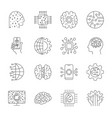 artificial intelligence ai icon set simple vector image