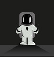 astronaut character is standing surface vector image