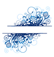 blue floral borders vector image vector image