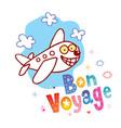 bon voyage have a nice trip vector image vector image