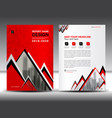 business brochure flyer template in a4 size red vector image
