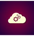 cloud with gears vector image