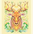 colorful deer vector image vector image