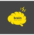 Creative brain symbol vector image